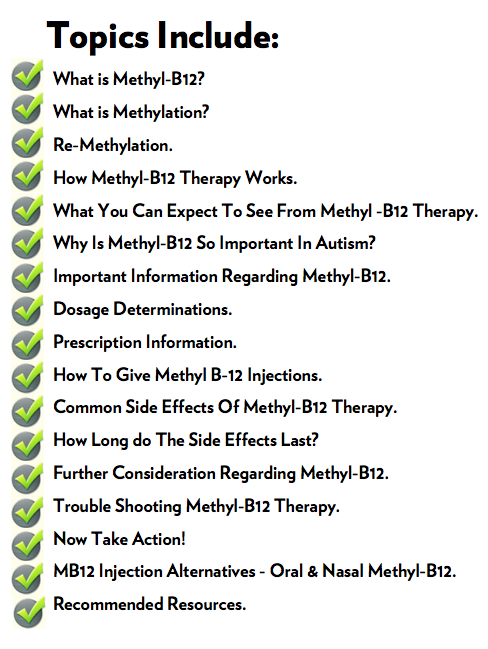 Methyl B12 for autism topics